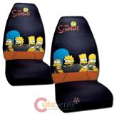 Simpsons Family Front Car Seat Cover 2pc Set