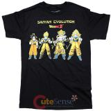 Dragon Ball Z Saiyan Evolution Mens T Shirts Animation T - Size M