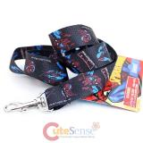 Marvel SpiderMan Action  Lanyard  Key Chian ID holder- Black