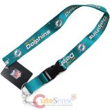 Miami Dolphins Lanyard NFL Key Chain ID Ticket Holder - 2013 New Logo