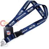 NFL  Seattle Seahawks  Lanyard Key Chain ID Ticket Holder - Navy Blue