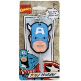Mavel Avengers Capain America Face Key Cap Key Holder