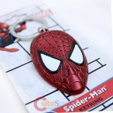 Marvel Spider Man 3D Face Metal Key Chain Colored Pewter Key Holder