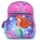 Disney Little Mermaid Ariel  School Backpack 16in Large Bag : Magical Bows