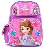 "Disney Sofia The First  Large school backpack 16"" Book Bag - Sofia Castle"