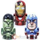 Marvel Avengers  Metal Coin Bank 3pc  Set - Iron Man, Captain America, Hulk
