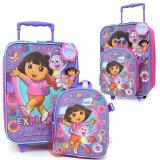 Dora The Explorer Dora & Boots  Rolling Luggage Suite Case with Small Backpack Set