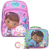 Disney Jr. Doc Mcstuffins  Large School Backpack Lunch Bag Set - Love More Than