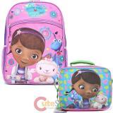 Disney Jr. Doc Mcstuffins  Large School Backpack Lunch Bag Set - Love More Than