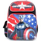 "Marvel Avengers Captain America School Backpack  Large 16"" Bag - Great Bravery"