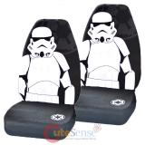 Star Wars  Storm Trooper  Front Car Seat Cover Set-  Low Back w/Head Rest Covers