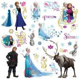 Frozen Elsa Peel And Stick Giant Wall Decals - Group 36pc