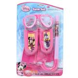 Disney Minnie Mouse Kids Swim Set - Mask, Snorkel, Flipper 3pc Set