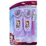 Disney Sofia The First Kids Swim Set - Mask, Snorkel, Flipper 3pc Set