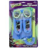 TMNT Ninja Turtles Kids Swim Set - Mask, Snorkel, Flipper 3pc Set