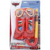 Disney Cars Mcqueen with Francesco Kids Swim Set - Mask, Snorkel, Flipper 3pc Set