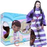 Disney Jr. Doc Mcstuffins Throw Blanket with Sleeves -Kids Size