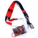 DC Comics  Harley Quinn Lanyard , ID Holder with Charm