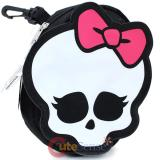 Monster High Skull Logo Pencil Case with Clip - Mini Pouch Cosmetic Bag