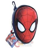 Marvel Spiderman Face Cut  Pencil Case Mini Pouch  with Clip