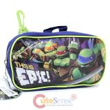 TMNT Teenage Mutant Ninja Turtles  Pencil Case Mini Pouch  with Clip