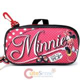 Disney Minnie Mouse Pencil Case Mini Pouch  with Clip