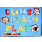 "Curious George Carpet Accent Mat Area Rug  39""x58"" - Climb Riach Play"