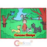 "Curious George Carpet Accent Mat Area Rug  39""x58"" - Park"