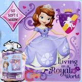 "Sofia The First  Raschel Plush Mink Blanket 60"" x 80""  : Royal World"