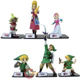 The Legend of Zelda Mini Figures 6pc Set by TOMY
