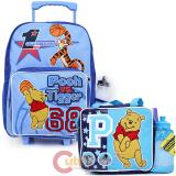 Disney Pooh & Tigger  Large  School  Roller Backpack with Lunch Bag Set