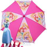 Disney Princess Pink Kids Umbrella - Tangled Aurora Ariel with 3D Cinderella Handle