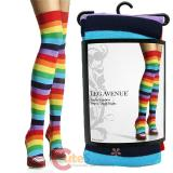 Leg Avenue Rainbow Striped Thigh Highs Stockings