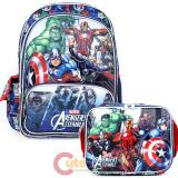 "Marvel Avengers 16""  Large School Backpack with  Lunch Bag Set - Hero's"