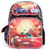 "Cars Mcqueen Large School Backpack 16"" Book Bag - Neon Light"