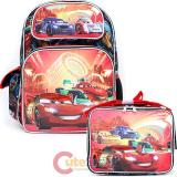 "Cars McQueen 16""  Large School Backpack with  Lunch Bag Set -Neon Light"