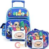 Adventure Time Large  School  Roller Backpack with Lunch Bag Set- New Friends
