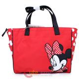 Disney Baby Minnie Mouse Red Bow Diaper Bag  Tote Bag with Pad