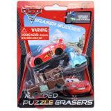 Cars McQueen Puzzle Figure Eraser Set - Mcqueen , Tow Mater, Guido