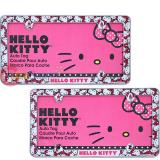 Sanrio Hello Kitty License Plate Frame -2pc Auto Accessories set