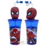 Marvel Spiderman Tumbler With 3D Face Topper Drink Bottle