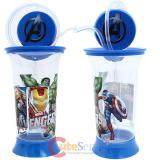 Marvel Avengers  Tumbler Drinking Bottle with Crazy Straw - Swivel Logo