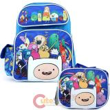 Adventure Time  Large School Backpack Lunch Bag Set - New Friends