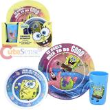 Nick Jr Spongebob and Patrick  3Pc Kids Dining / Dinnerware Set