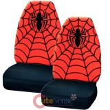 Marvel Spiderman 2pc Front Car Seat Cover Set - Web Spider Logo