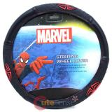 Marvel Spiderman  Auto Car Steering Wheel Cover -  Web Spider Logo