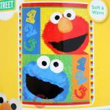 Sesame Street Elmo Plush Microfiber Throw Blanket : Twin 123 Play with Me