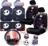 Nightmare Before Christmas Low Back Car Seat Covers Accessories Complete Set :13PC