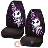 Nightmare Before Christmas Jack Bones Car Seat Cover Set - 2Pc High Back