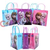 Disney Frozen Elsa Anna and Olaf Party Gift Bag Set of 6 - Medium 8in